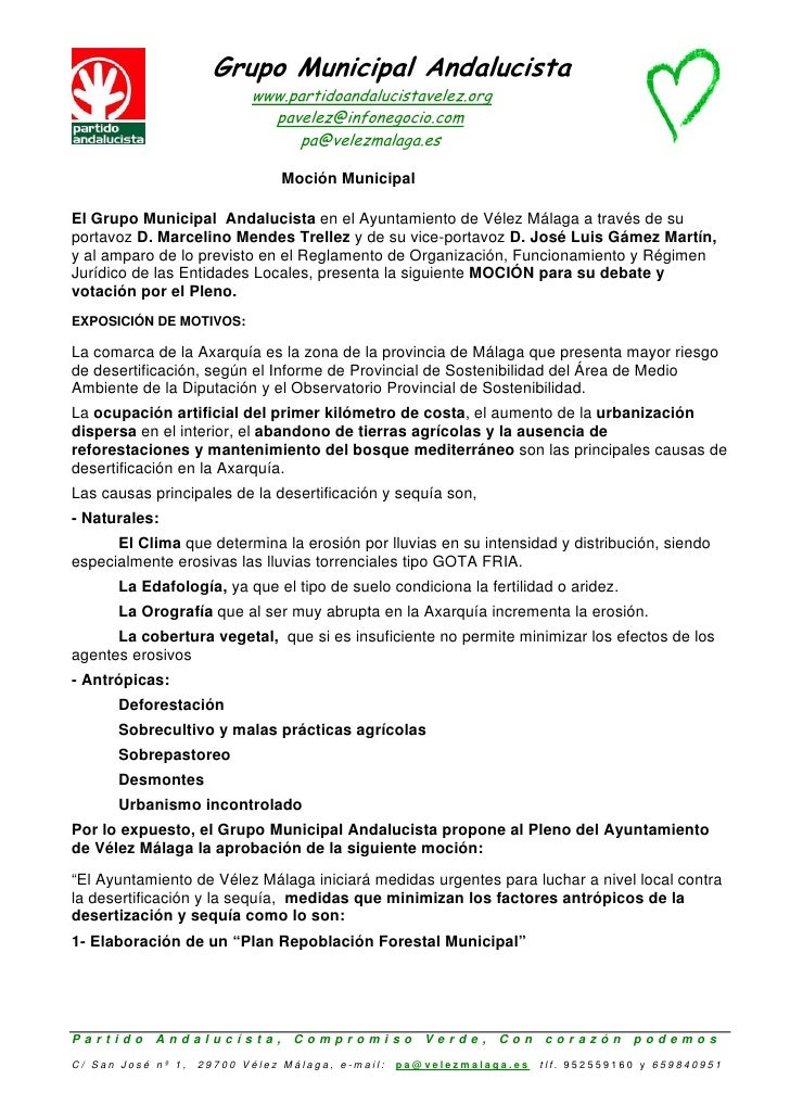 Grupo Municipal Andalucista                                 www.partidoandalucistavelez.org                               ...