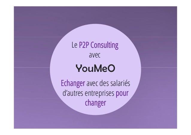 Le P2P Consulting  1  avec  YouMeO  Echanger avec des salariés  d'autres entreprises pour  changer