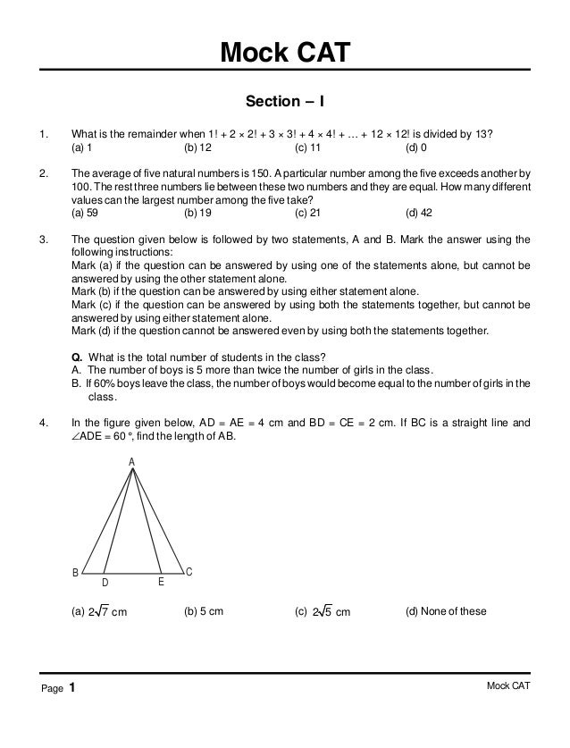 Cat Mock Papers Free Download