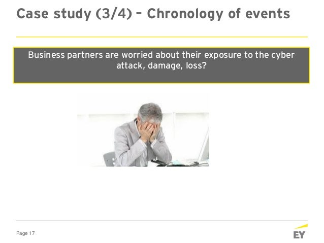Page 17 Case study (3/4) – Chronology of events At 2030 hours, Friday Business Partners start calling you and enquire abou...