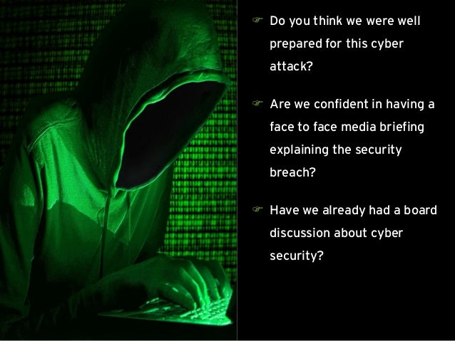 Page 23 Case study (4/4) – Chronology of events Do you think we were well prepared for this cyber attack?  Are we confid...
