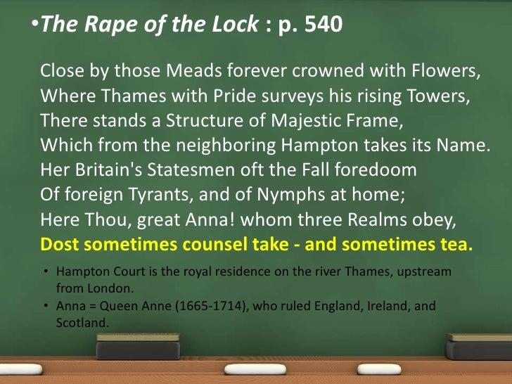 Rape of the lock as mock