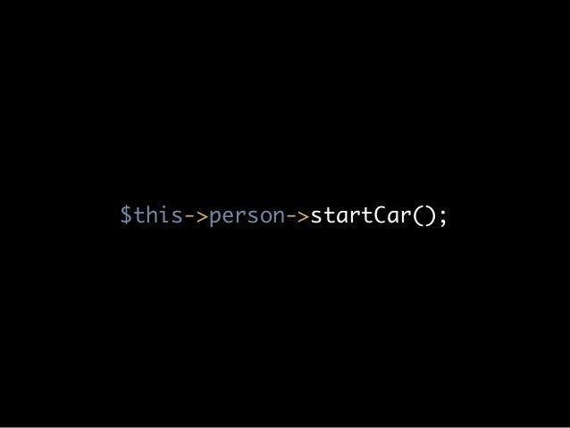 $this->person->startCar();
