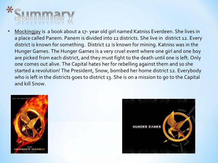 my book report on the hunger games The hunger games trilogy continues with catching fire this is a book that was hard to put down i nibbled at it for a few days because i was busy with other things but once the weekend came, i did little else until it was finished.
