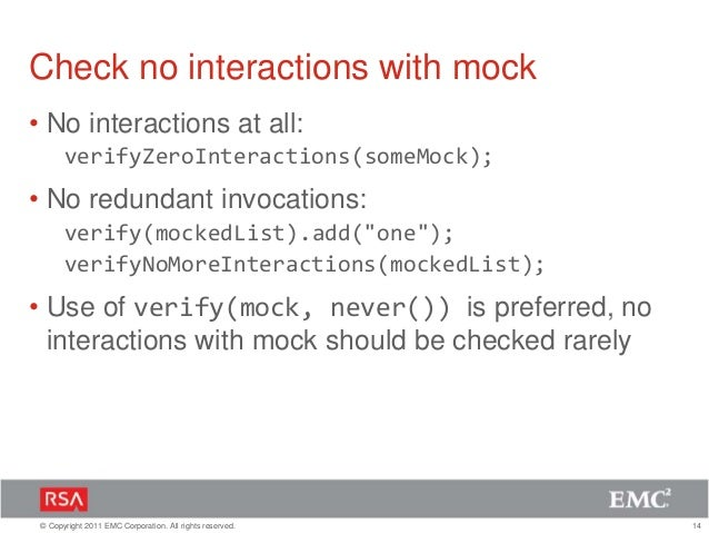 Mock your way with Mockito