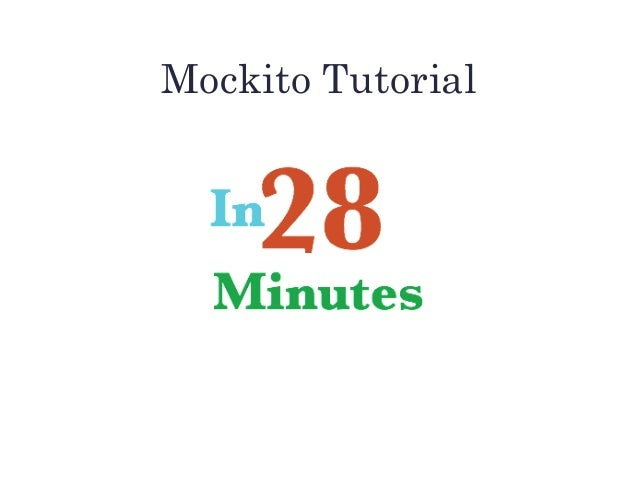 Mockito Tutorial