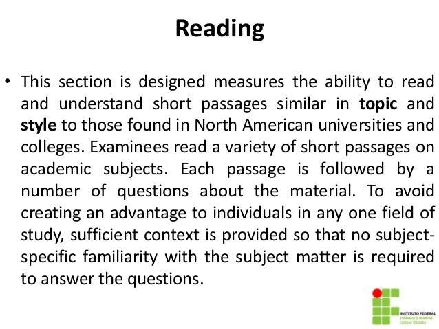 Mock test reading TOEFL ITP
