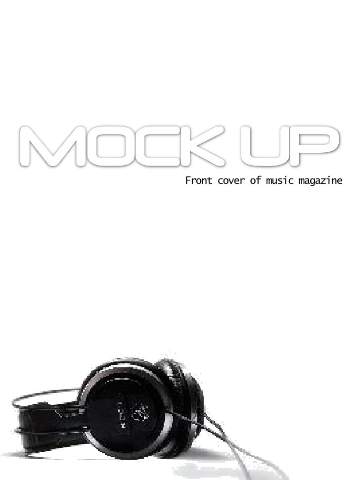 Front cover of music magazine