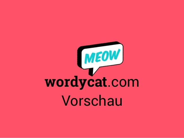 wordycat.com  Vorschau