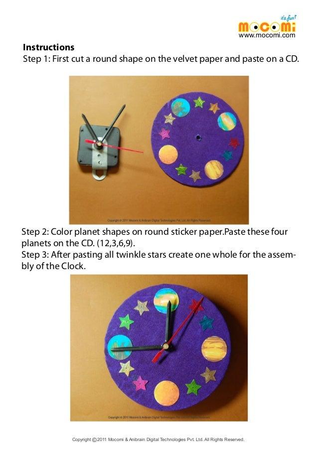 how to make cd clock mocomi kids. Black Bedroom Furniture Sets. Home Design Ideas