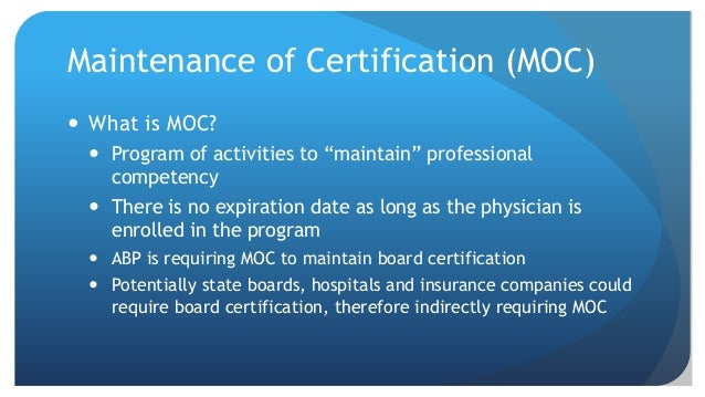 Maintenance of Certification, Quality Improvement and Your EMR