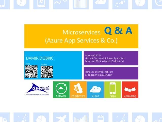 Microservices and modern backends  - Azure Meetup Frankfurt