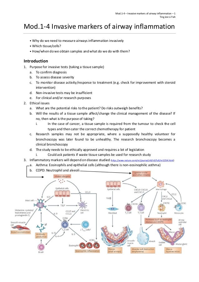 Mod.1-4 – Invasive markers of airway inflammation – 1 Ting Joe Li Yah Mod.1-4 Invasive markers of airway inflammation • Wh...
