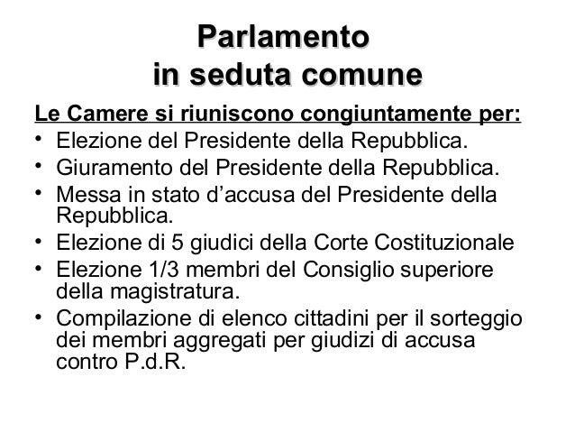 Mod 4 parlamento parte prima for Parlamento della repubblica