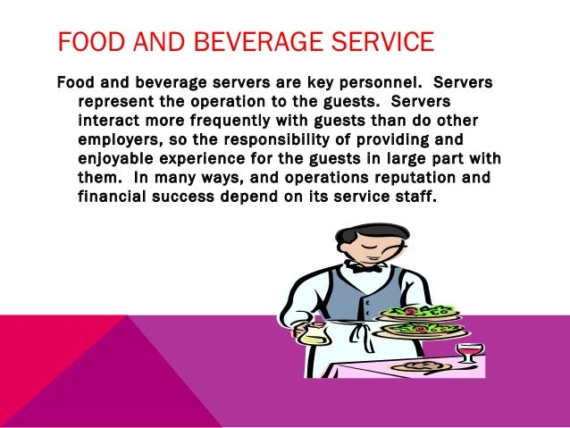 Food and Beverage Management&nbspTerm Paper
