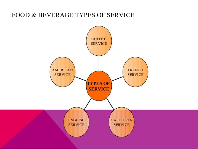 What Are The Types Of Services In Food And Beverage