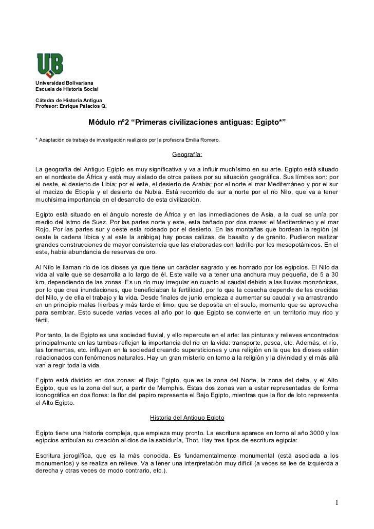 Universidad Bolivariana Escuela de Historia Social  Cátedra de Historia Antigua Profesor: Enrique Palacios Q.             ...