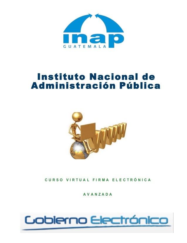 Instituto Nacional de Administración Pública                ...