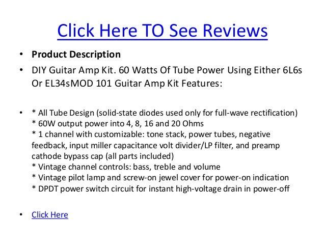 Mod 101 diy guitar amplifier kit tube amp kit