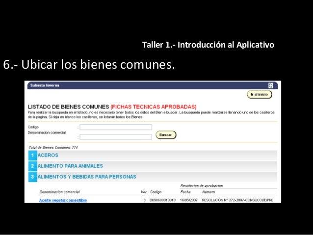 7.- Procedimientos referidos en la Pagina Web del RNP. Taller 1.- Introducción al Aplicativo
