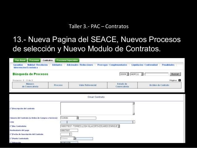 Consultas Comunes en el SEACE Consultas Comunes en el SEACE