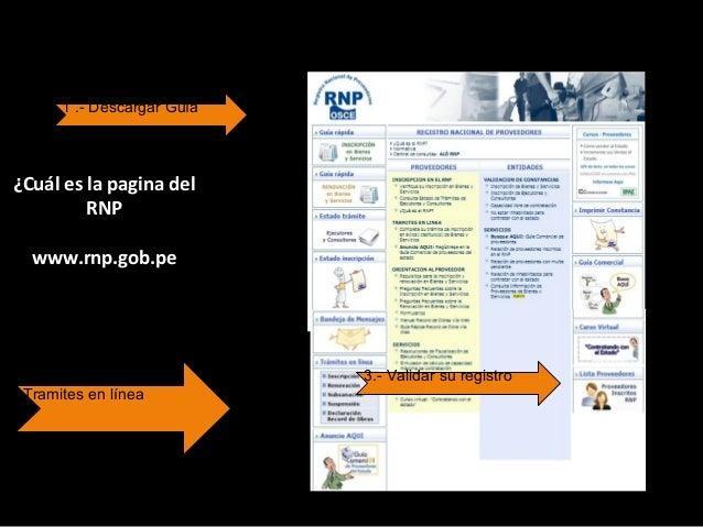 ¿Cuál es el procedimiento para Renovacion? 1. Descargar la Guía de Procedimientos de www.rnp.gob.pe 2. Pagar la tasa corre...