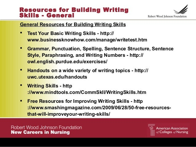 Resources for Building Writing Skills ...