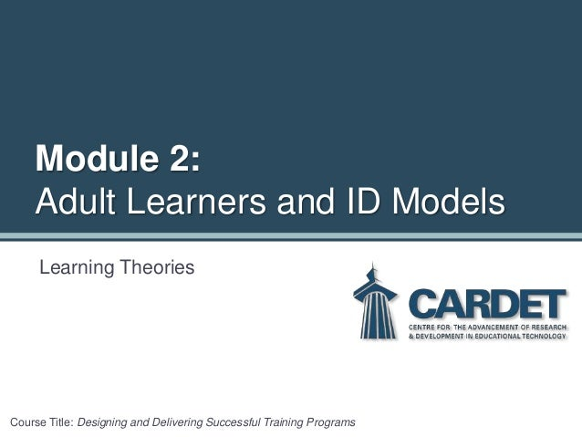Excellent adult learning theory course think