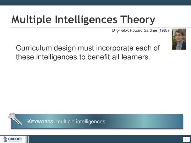 multiple intelligences curriculum implications Implementation of the multiple intelligences, it is this researcher's argument that educators will  impact of the mi curriculum was that children felt better about.