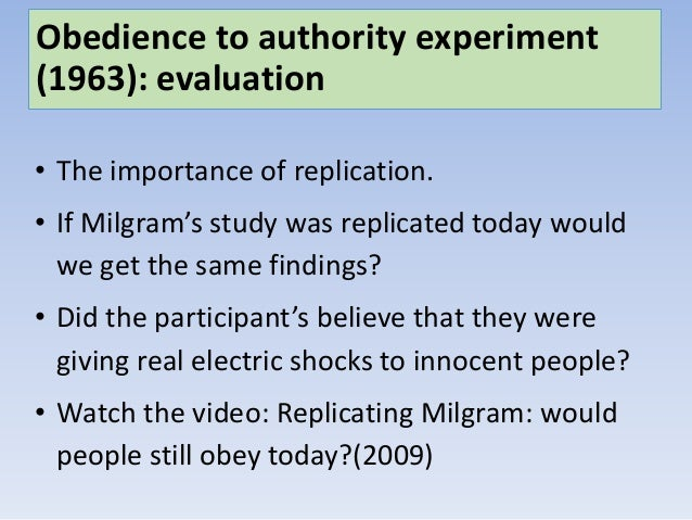 milgram experiment evaluation