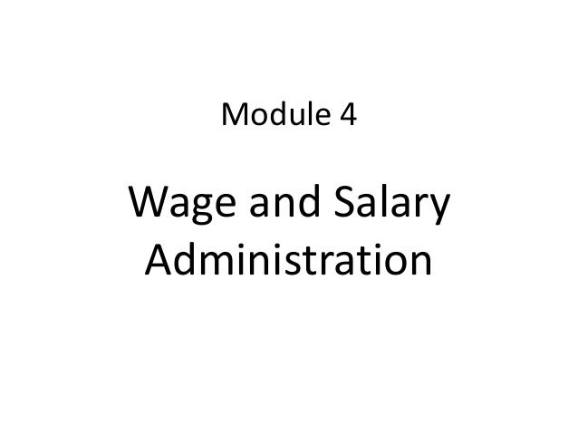 Module 4Wage and SalaryAdministration