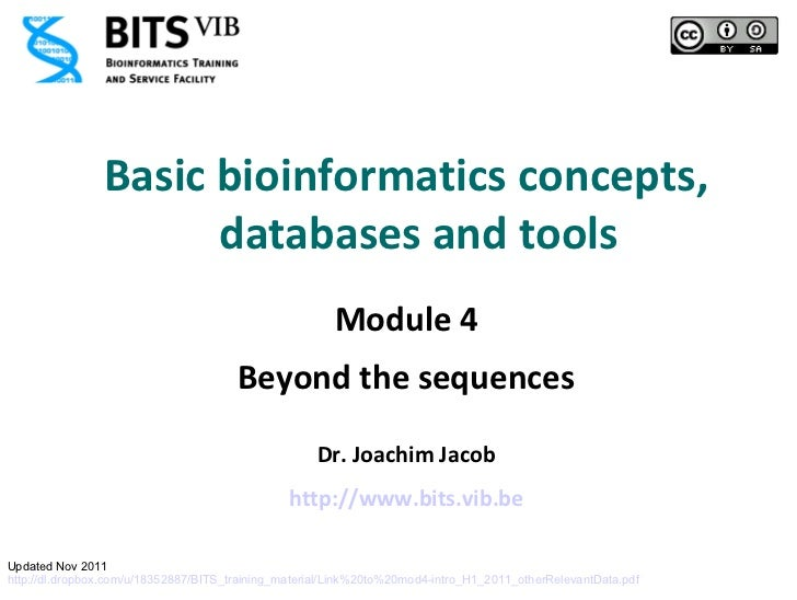 Basic bioinformatics concepts,                      databases and tools                                                   ...