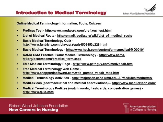 aama ntl org medical terminology