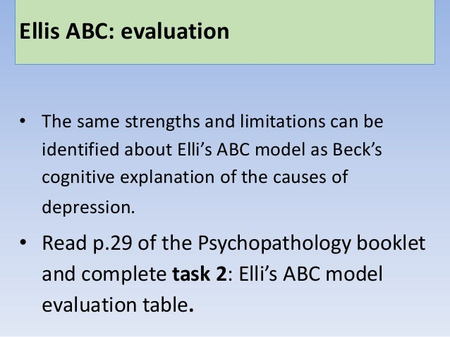 strengths of behavioural approach to psychopathology A mr walton production based on aqa material.