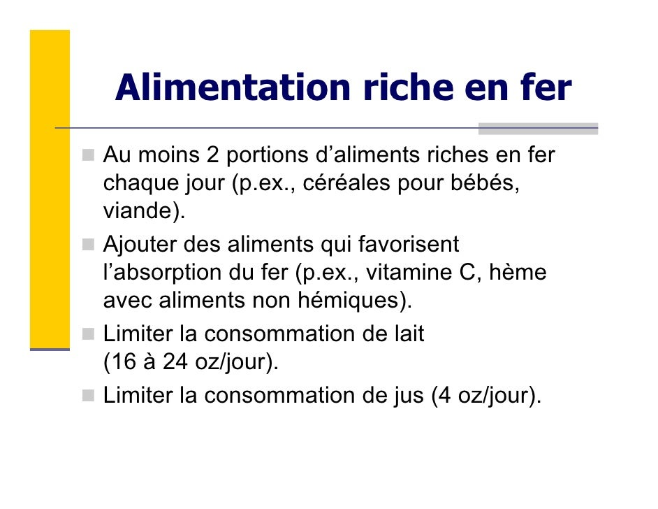Module 4 carences nutritives le fer et la vitamine d - Aliments les plus riches en fer ...