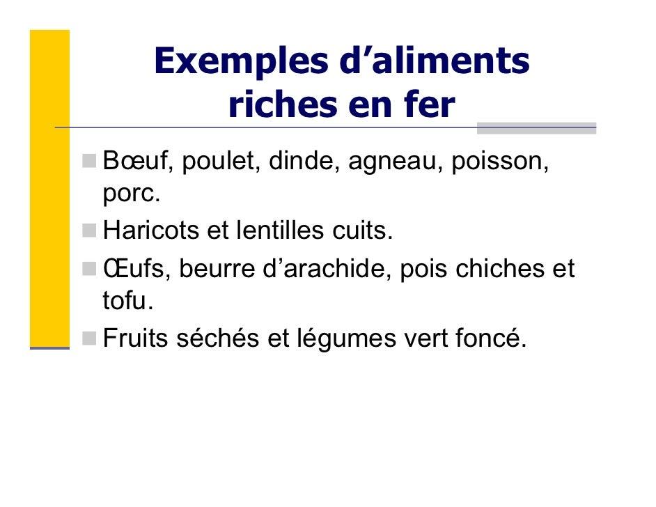 Aliment riche en fer - Les aliments riches en glucides ...