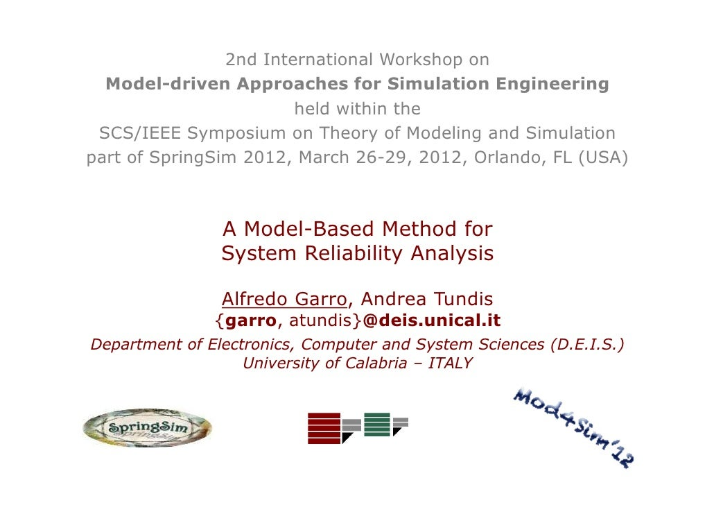 2nd International Workshop on  Model-driven Approaches for Simulation Engineering                        held within the S...