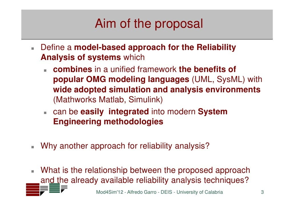 A Model-Based Method for System Reliability Analysis