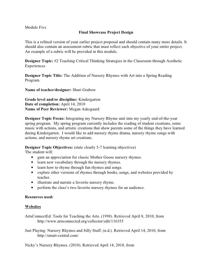 Module Five                                 Final Showcase Project Design  This is a refined version of your earlier proje...