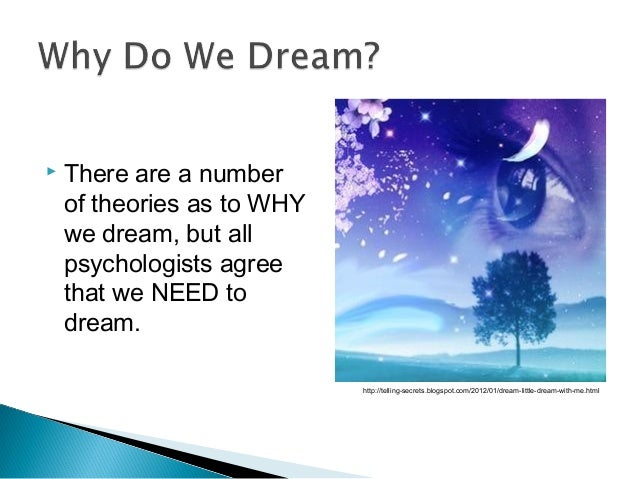 dream theorists on dreams and what Sigmund freud explored the human mind more considered dreams to be the royal road to the unconscious as it is in dreams dream work involves the.