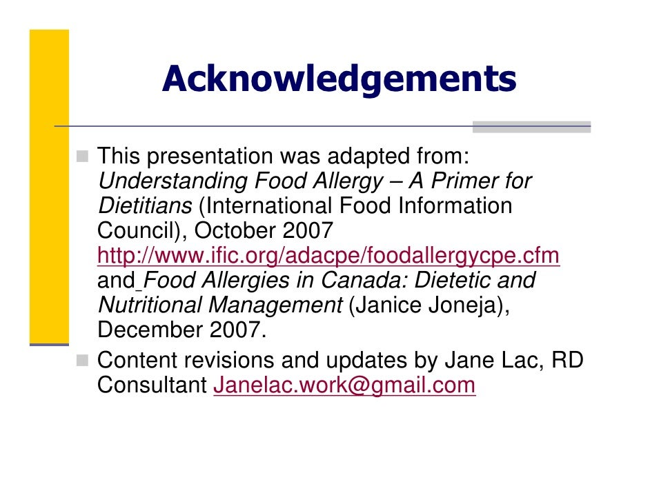 Food allergy essay