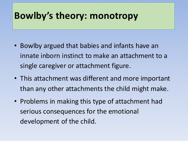 bowlby attachment theory evaluation