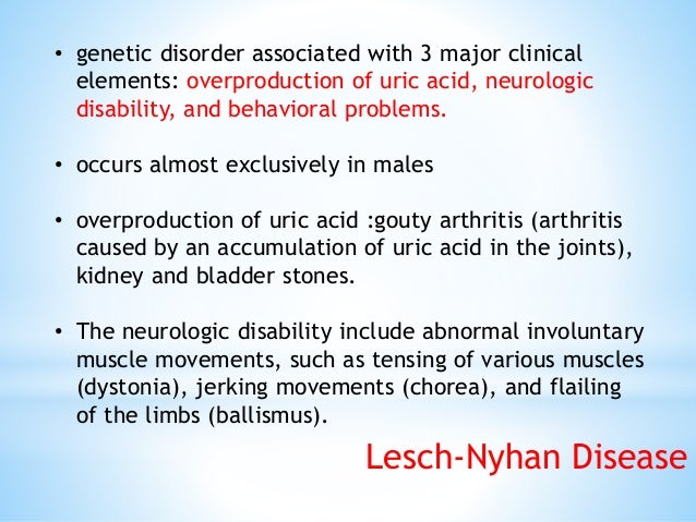 • behavioral problems include intellectual disability (mental retardation) and aggressive and impulsive behaviors. • usual...