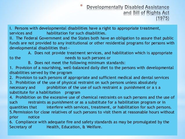 * Purposes: I. to provide a clear and comprehensive national mandate for the elimination of discrimination against individ...