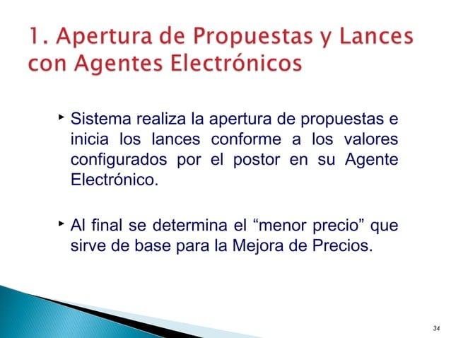  Sistema realiza la apertura de propuestas e inicia los lances conforme a los valores configurados por el postor en su Ag...