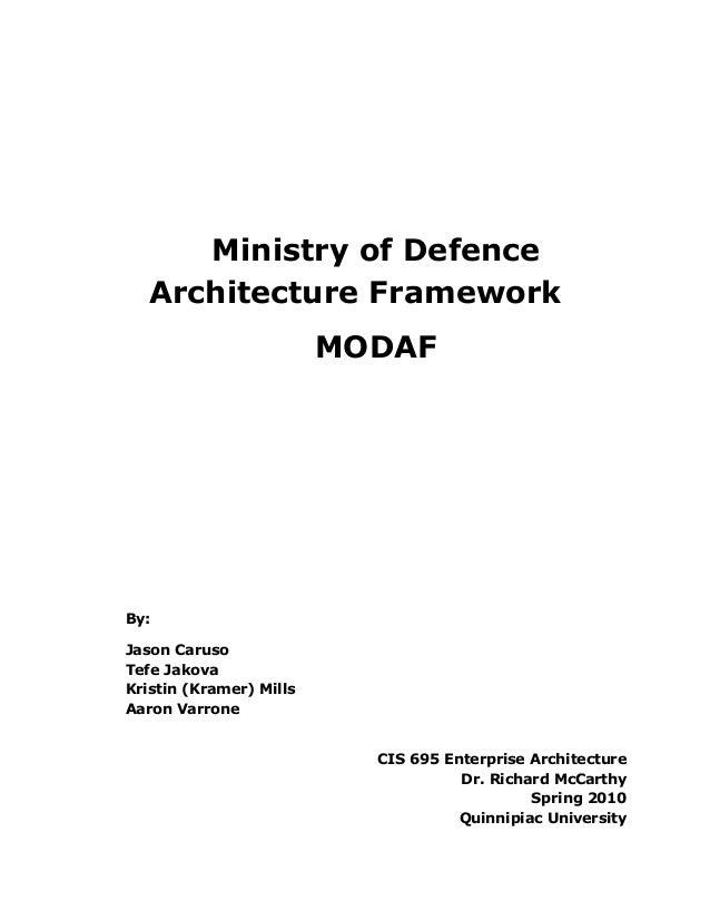 Modaf Ministry Of Defence Architecture Framework