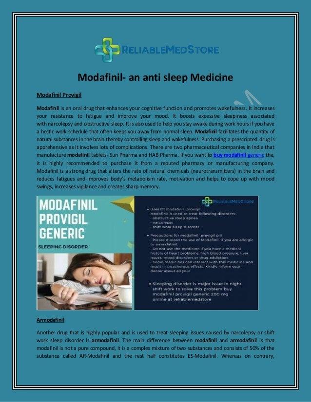 Modafinil Provigil Is Best Medication For The Sleeping Disorder
