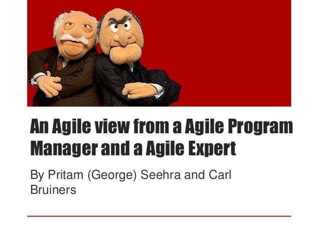 An Agile view from a Agile ProgramManager and a Agile ExpertBy Pritam (George) Seehra and CarlBruiners