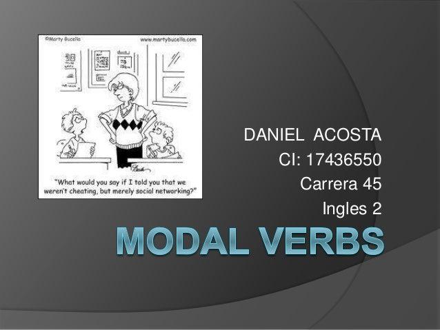 DANIEL ACOSTA CI: 17436550 Carrera 45 Ingles 2