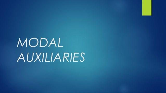 MODALAUXILIARIES